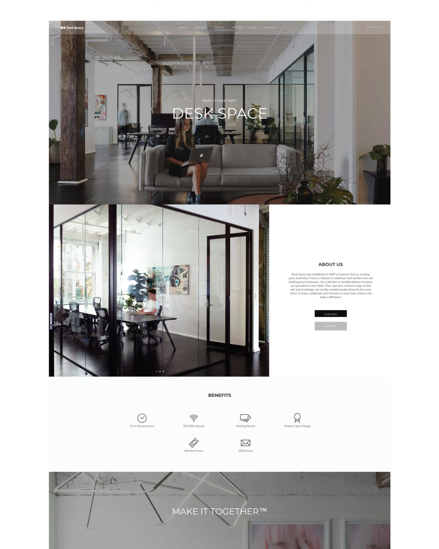 Desk Space Website