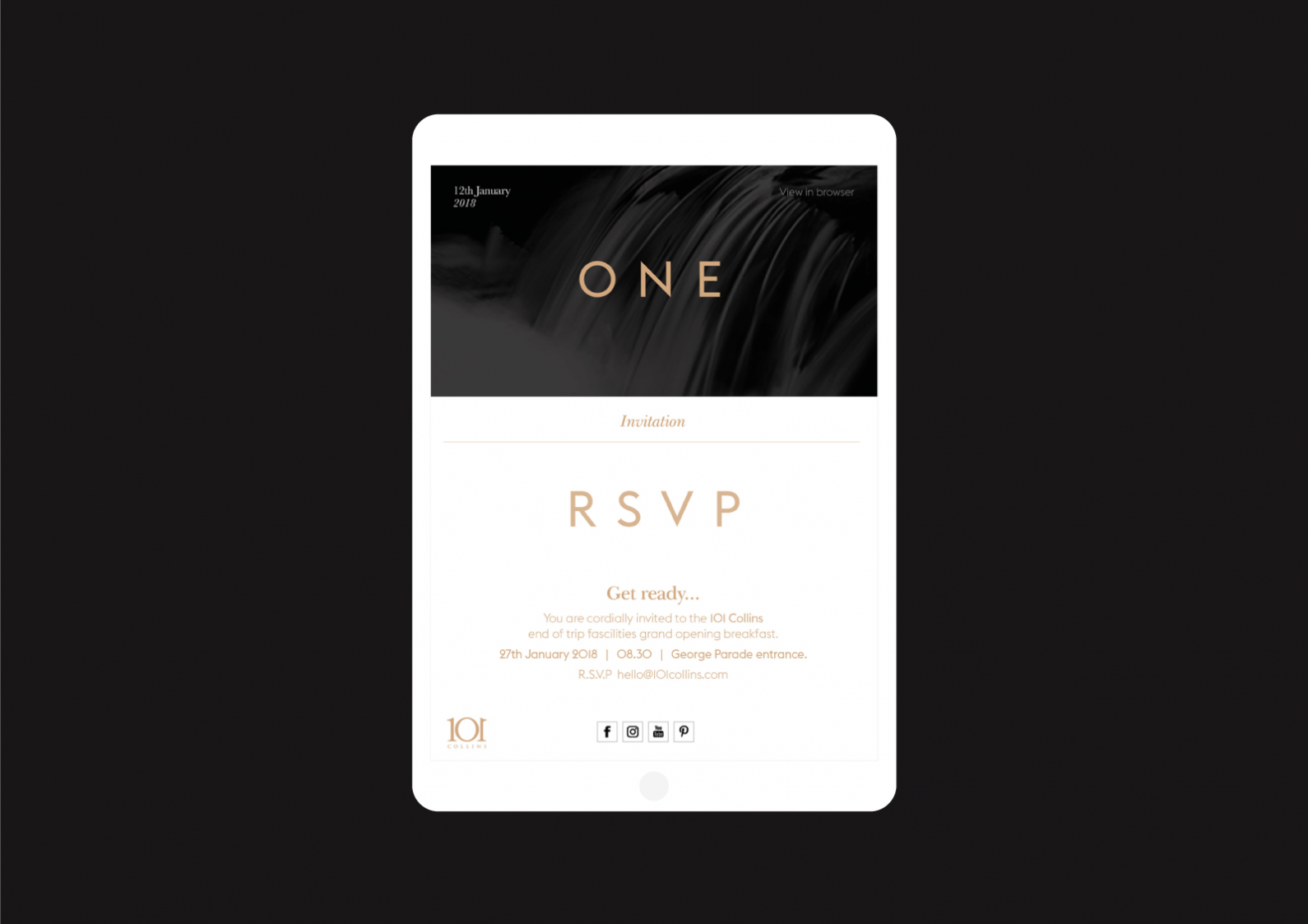 ONE E-Invitation