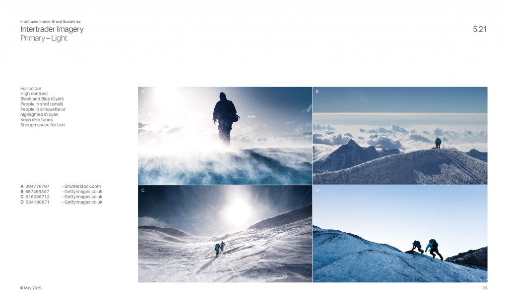 Intertrader Brand Guidelines Secondary Imagery Page