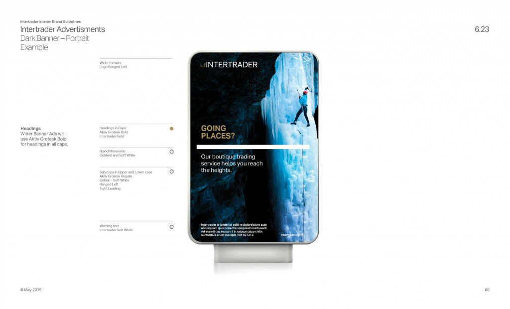 Intertrader Brand Guidelines Examples Page