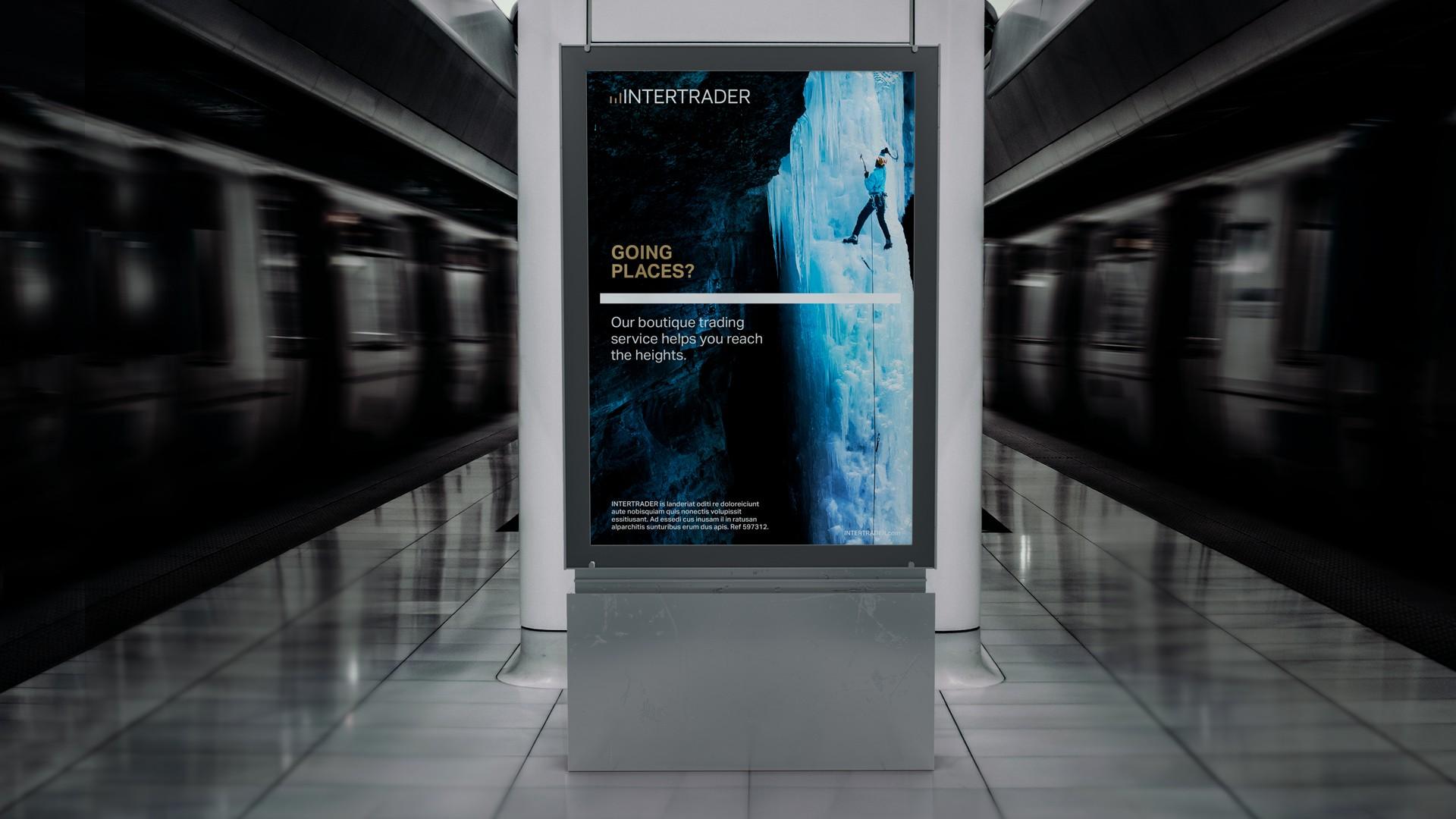 Advertising Board in Underground Station