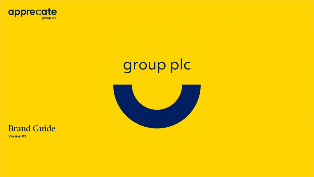 Appreciate Group Brand Guidelines Cover