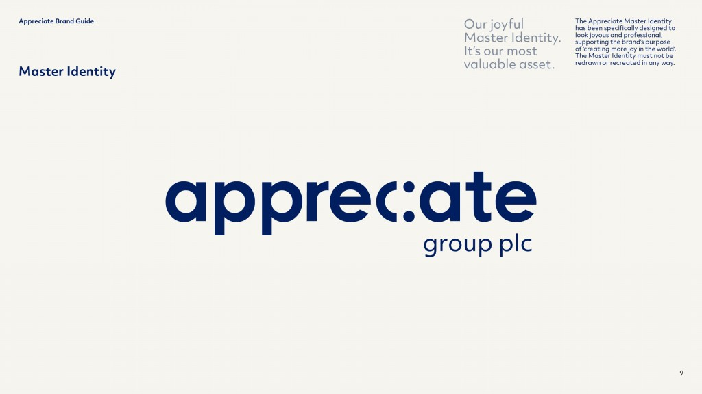 Appreciate Group Brand Guidelines Identity Page